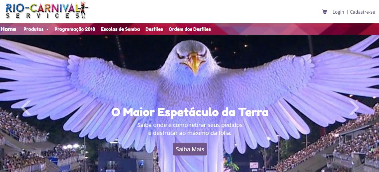 landing page para carnaval - Río de Janeiro