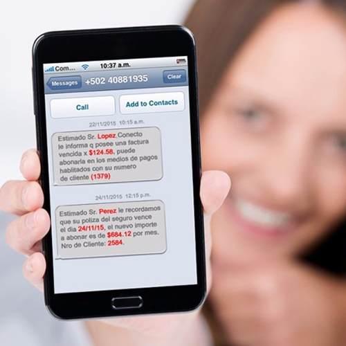 SMS personalizados