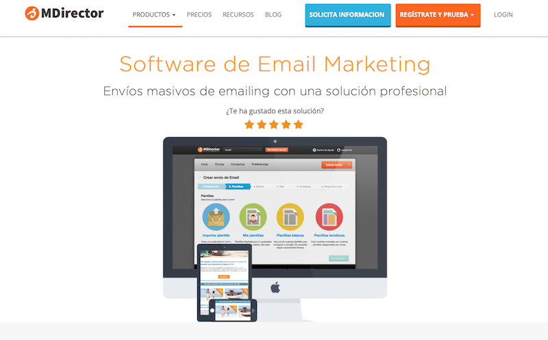 Sowtware de email marketing MDirector