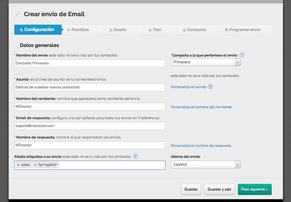 etiquetas de contacto en email marketing