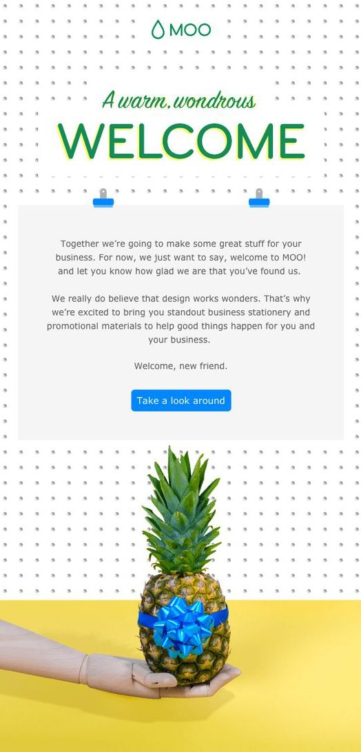 utilizar un welcome email