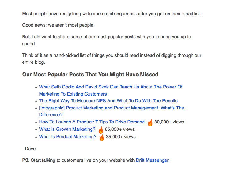 utilizzare una Welcome Email