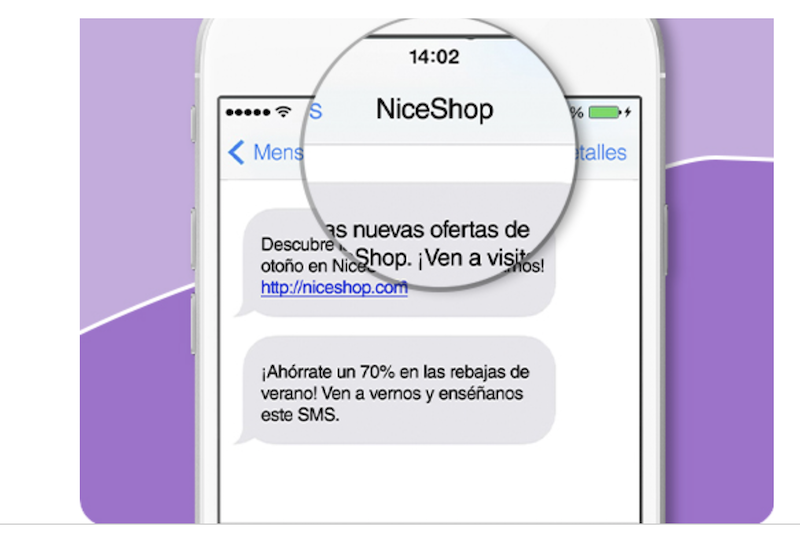 personalizar SMS