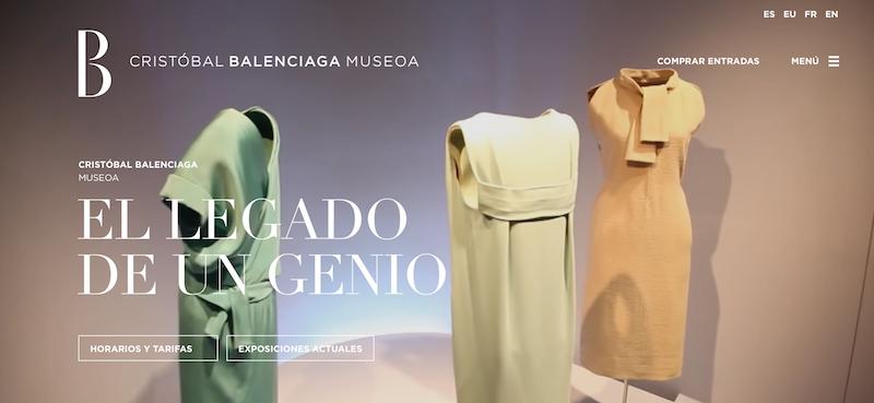 landings de museos: Museo Balenciaga