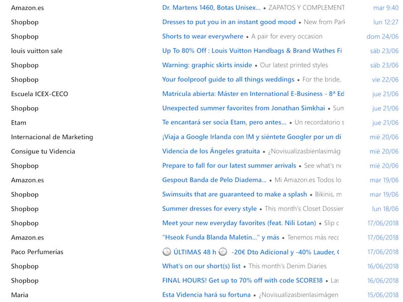 Ejemplos de asuntos de email creativos