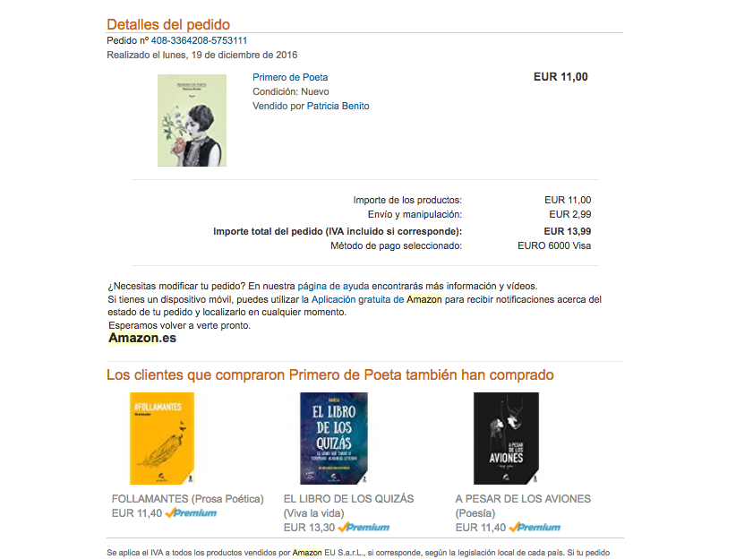 secuencia ideal de emails post-venta Amazon