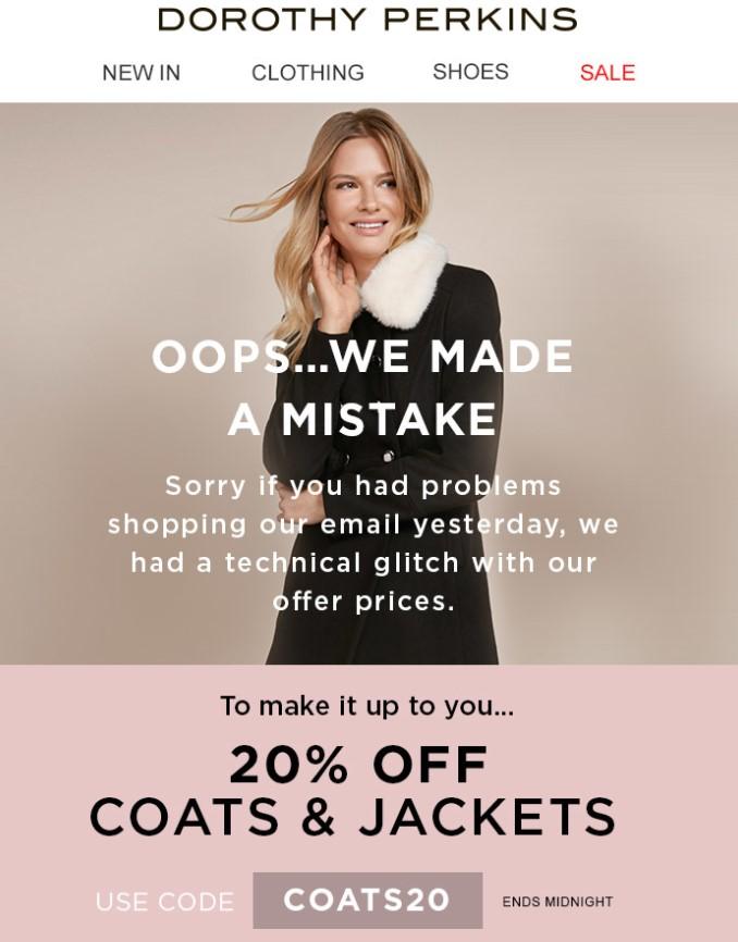 disculpa newsletters de ecommerce