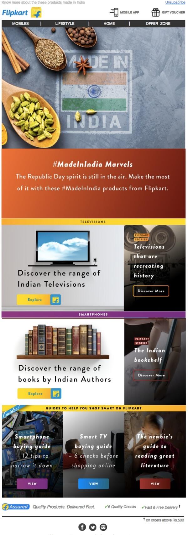 newsletters de ecommerce diseño