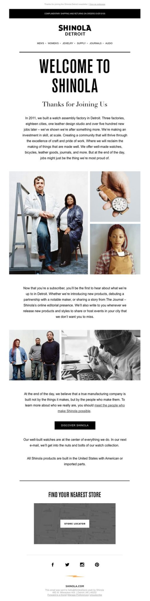 email marketing para crear imagen de marca historia