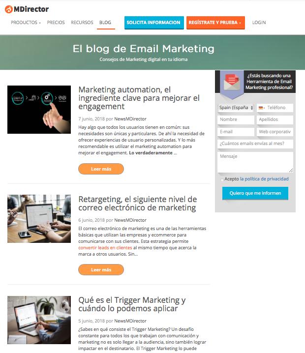 landing page para link building blog