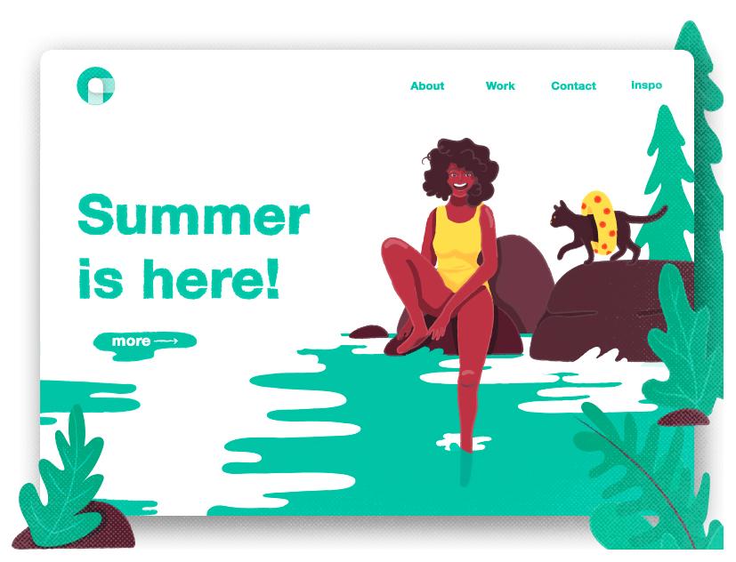 El verano no lleva ni dos semanas con nosotros y las marcas ya han empezado a cambiar sus diseños para lanzar landing pages refrescantes dest