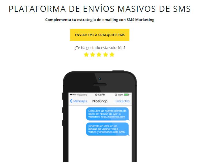 plataforma de envío de SMS masivos