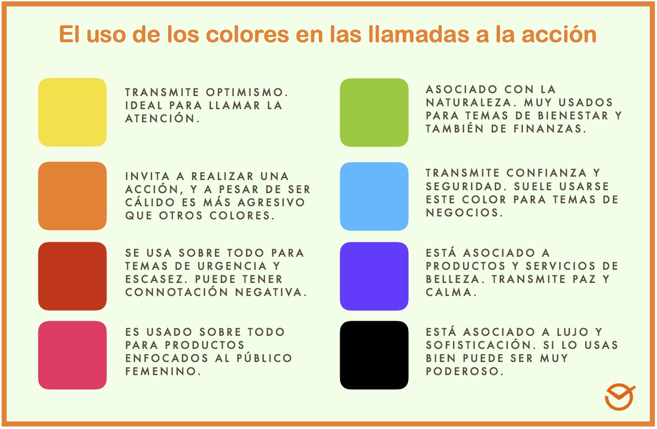 significado del color del CTA