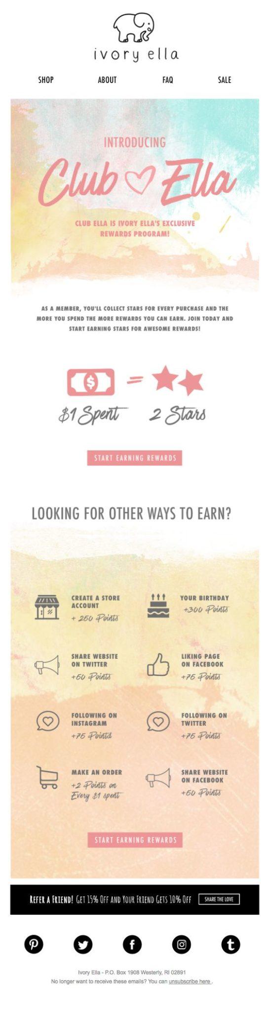 email marketing para crear imagen de marca tipografía
