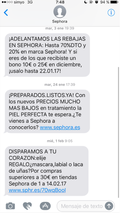 estrategia de SMS Marketing LINK