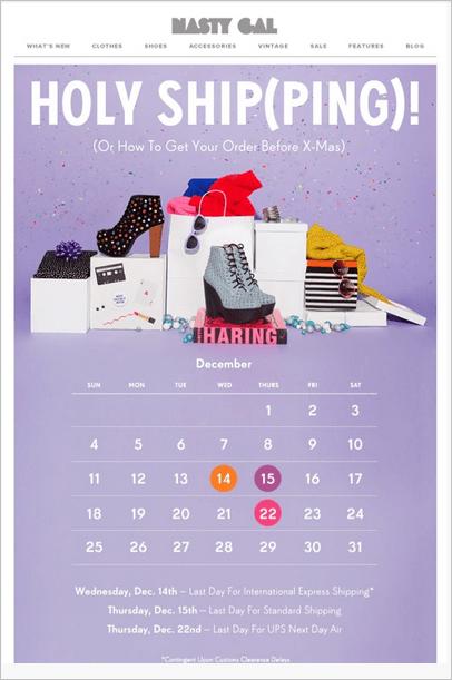 newsletter perfectas para Navidad calendario
