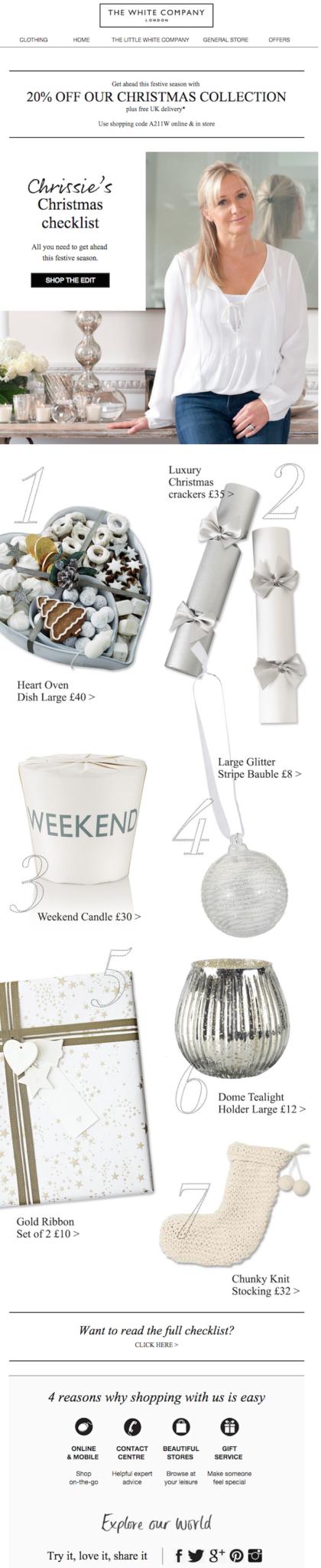 checklist newsletter perfectas para Navidad