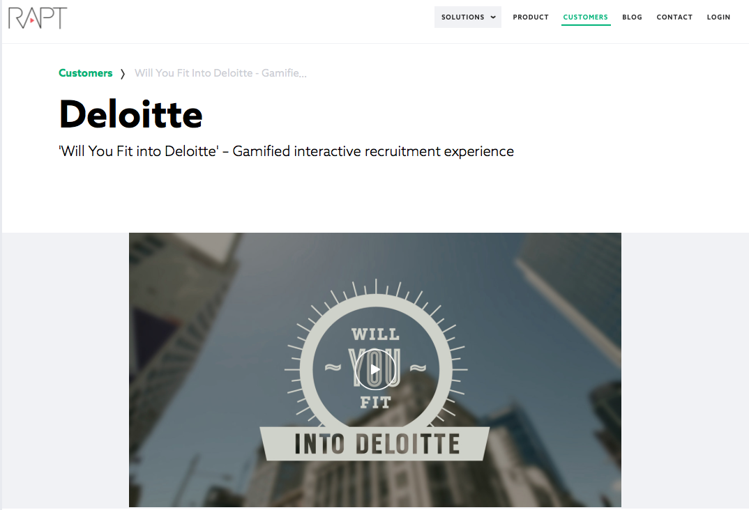 Deloitte landing pages interactivas
