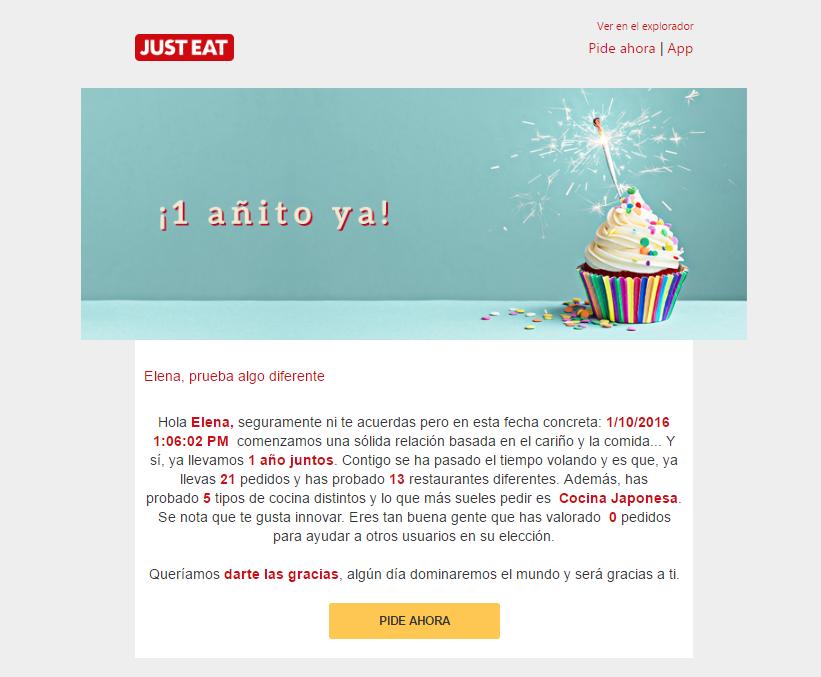 ejemplos de emails personalizados