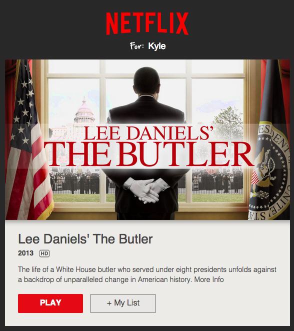 Netflix ejemplos de emails personalizados