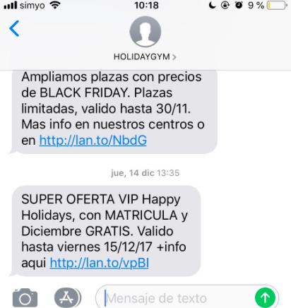 oferta SMS marketing para recuperar clientes perdidos