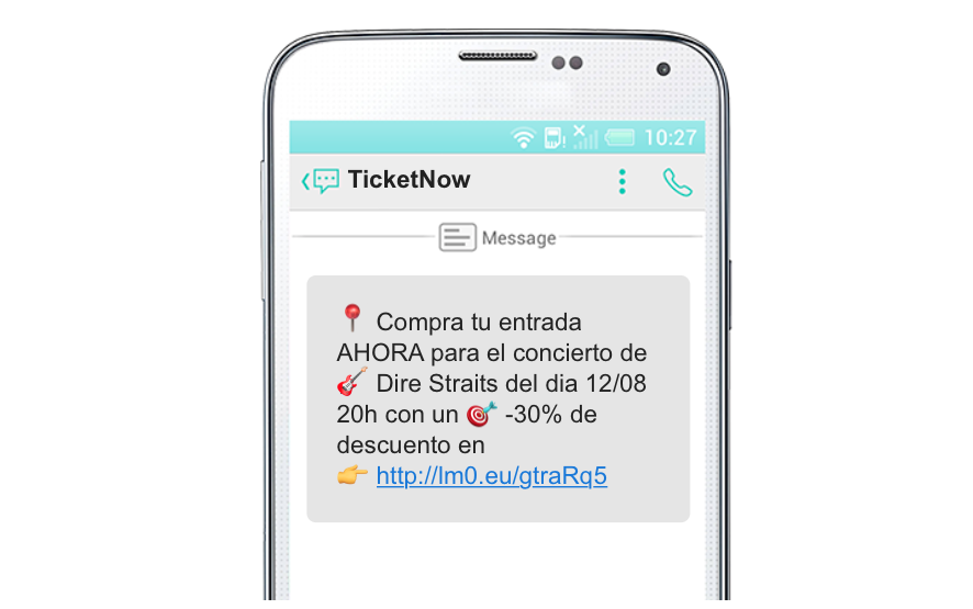promociones SMS marketing en el sector del ocio