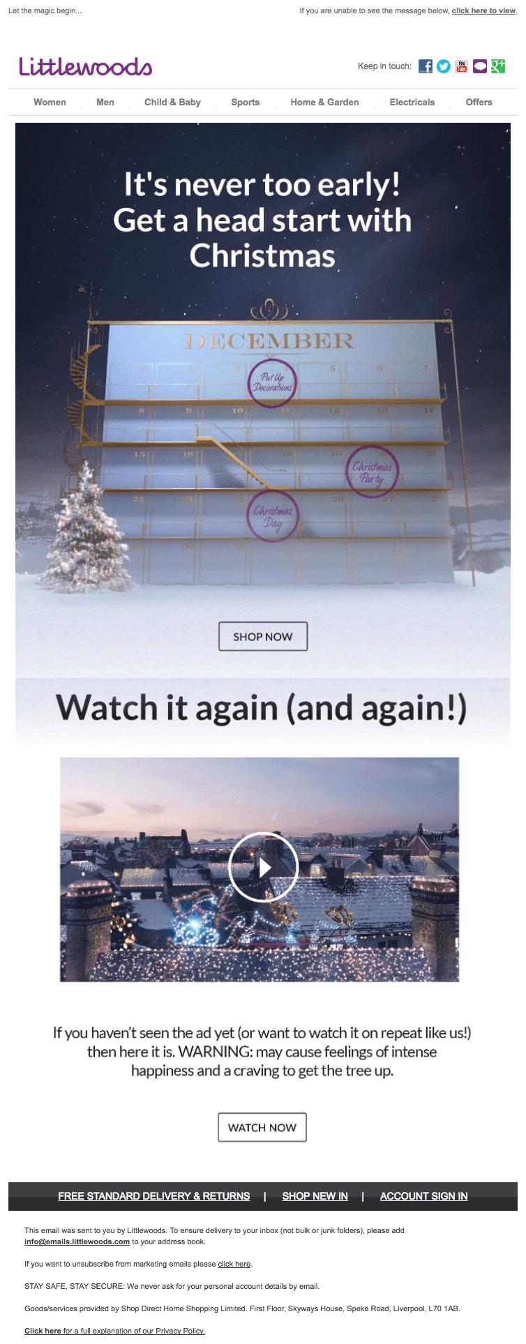 newsletter perfectas para navidad copys