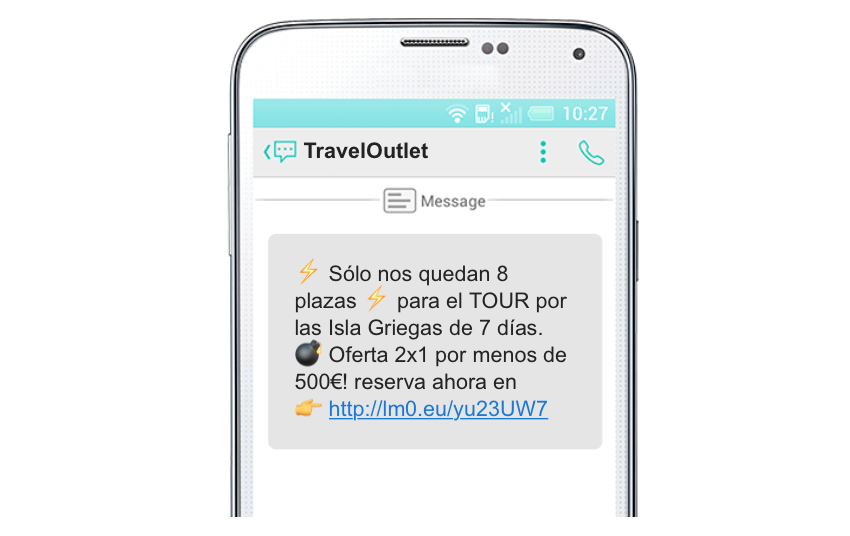 SMS marketing en el sector del ocio ultimas unidades