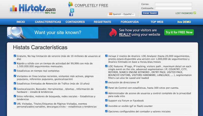 herramientas de analítica web HISTATS