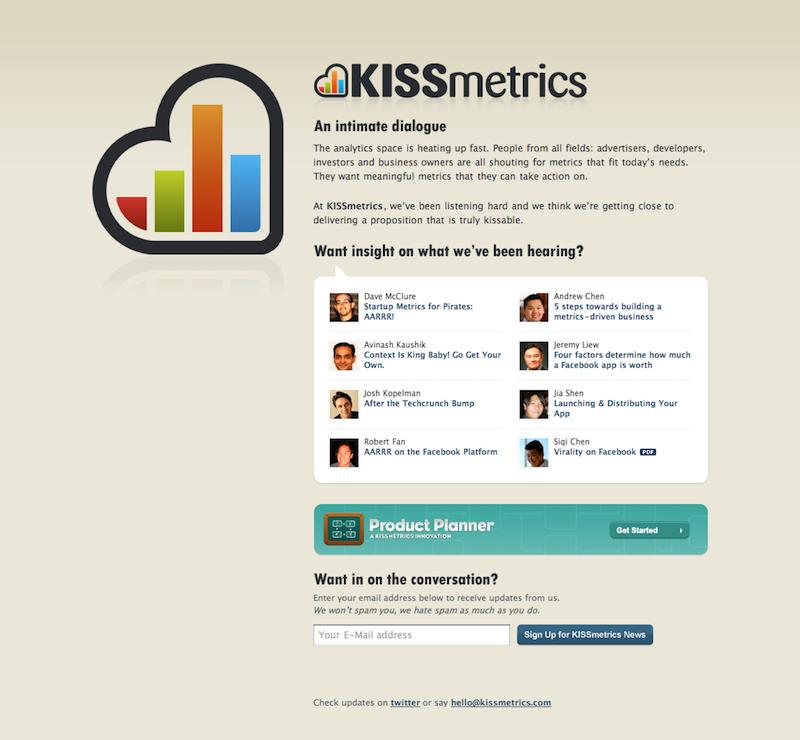 herramientas de analítica web Kissmetrics