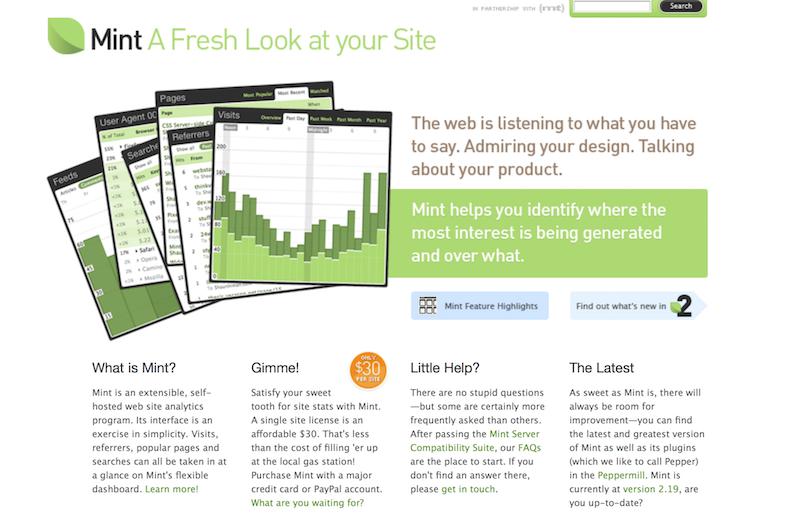 herramientas de analítica web Mint