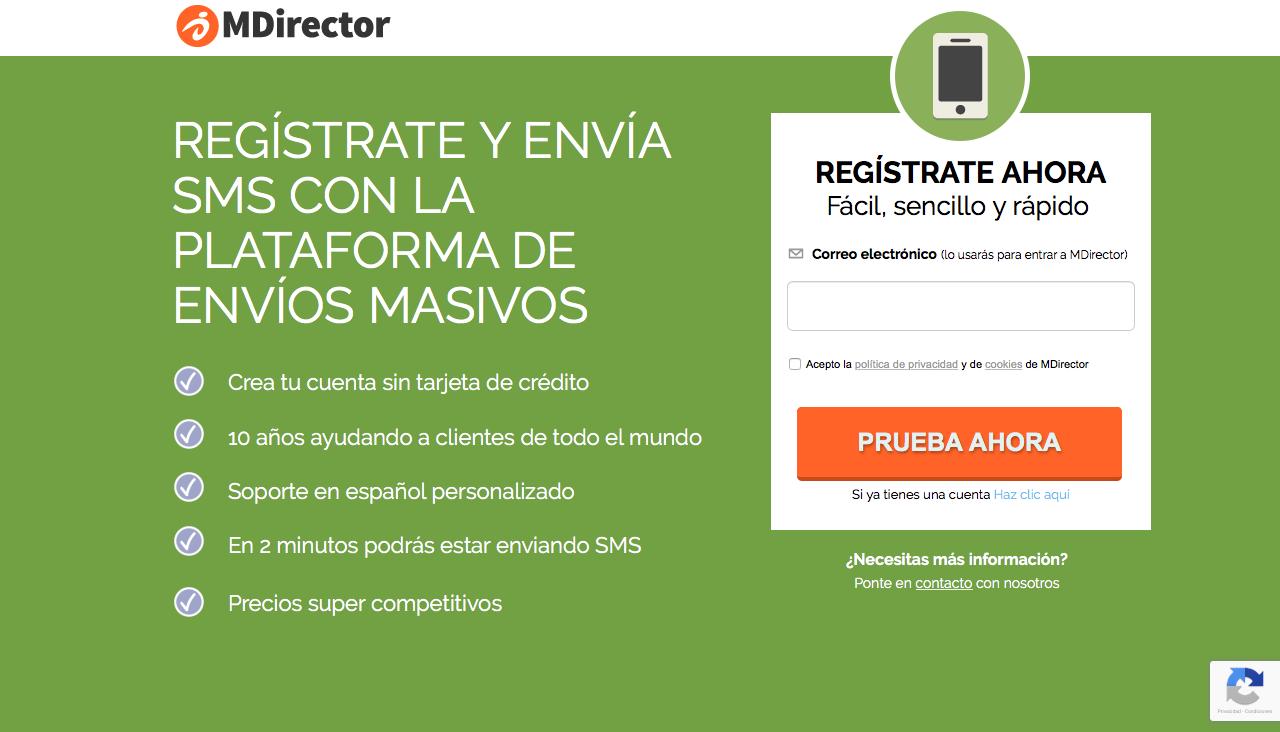 Comprar SMS masivos MDirector