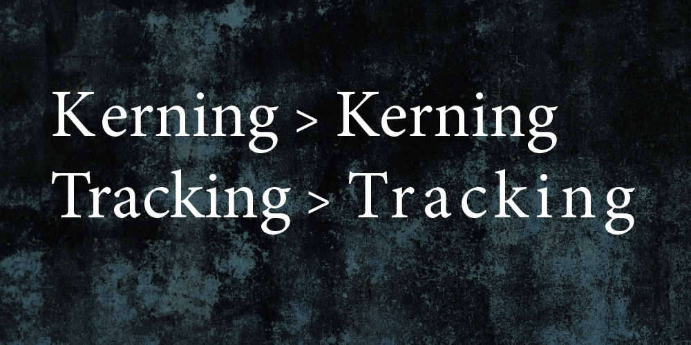 Kerning y Tracking