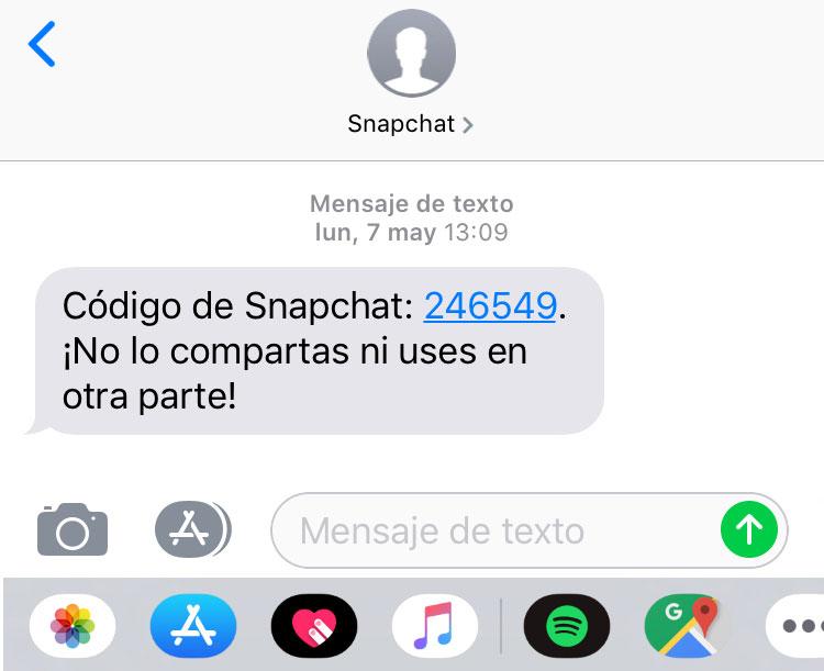 snapchat código