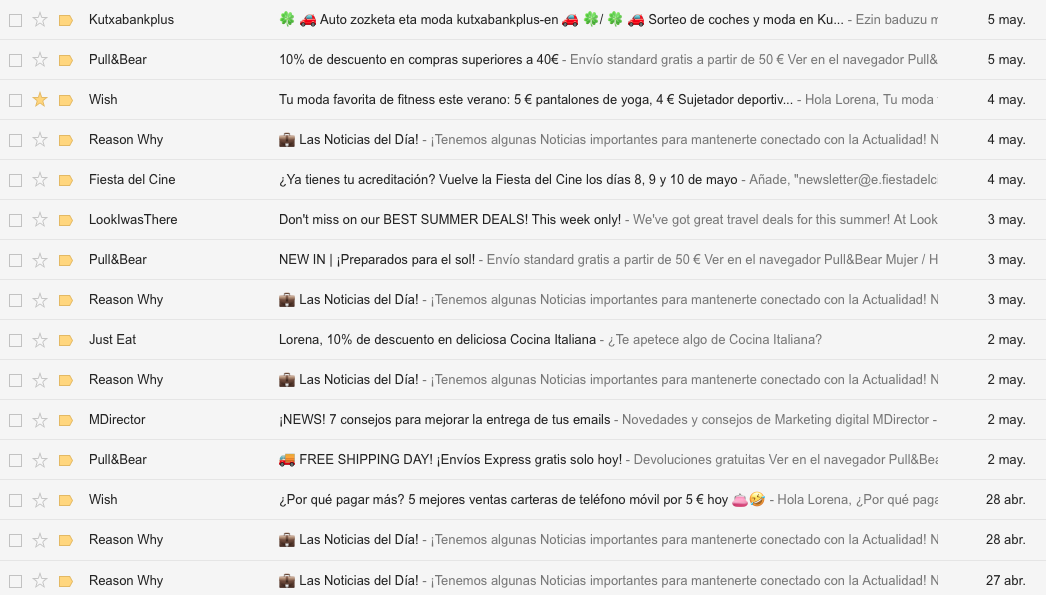 vender más en una ecommerce con email marketing asunto