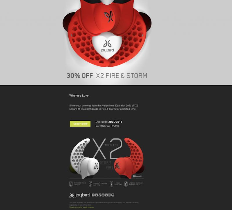 Email Marketing en San Valentín vales