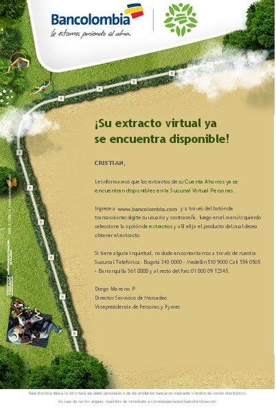 empresas de Colombia que lo están haciendo bien en email marketing: Bancolombia