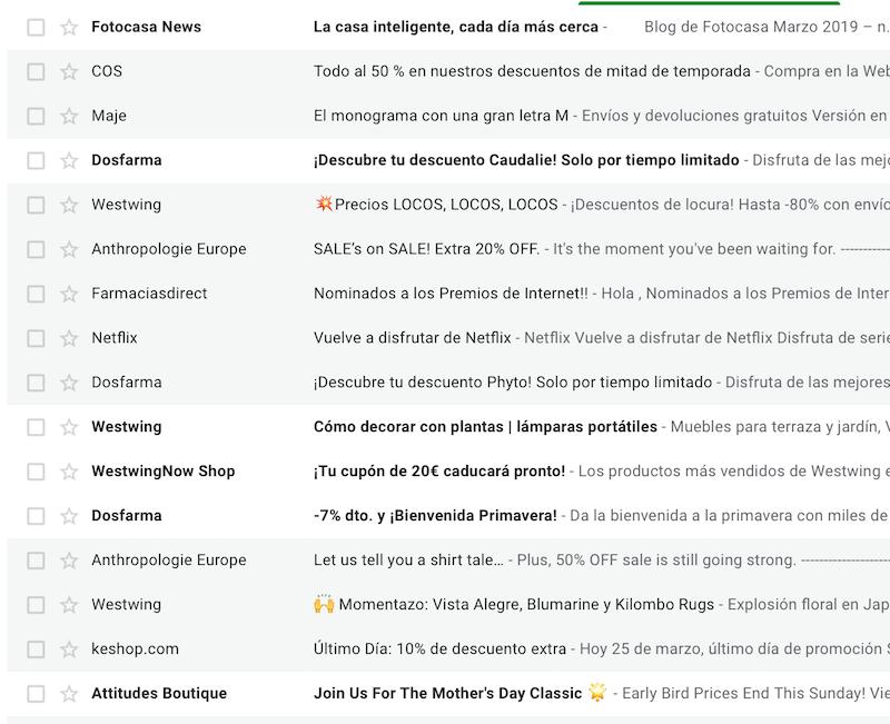 malas prácticas en una estrategia de email marketing