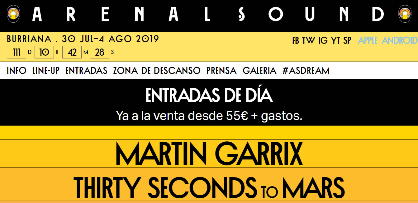 Marketing Automation para festivales de música: Arenal Sound