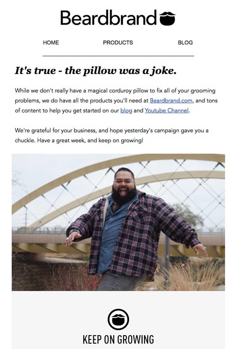 humor en las campañas de email marketing correo