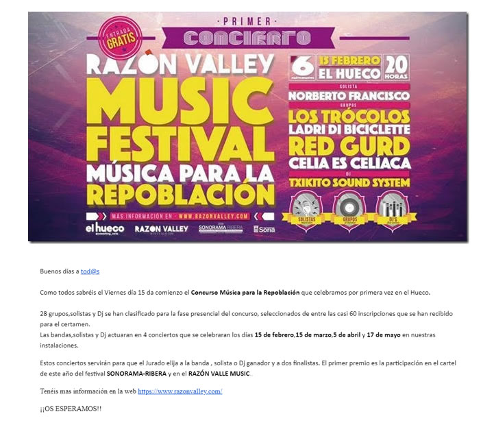 Marketing Automation para festivales de música: Música para la repoblación