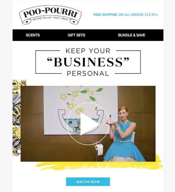humor en las campañas de email marketing poopurri