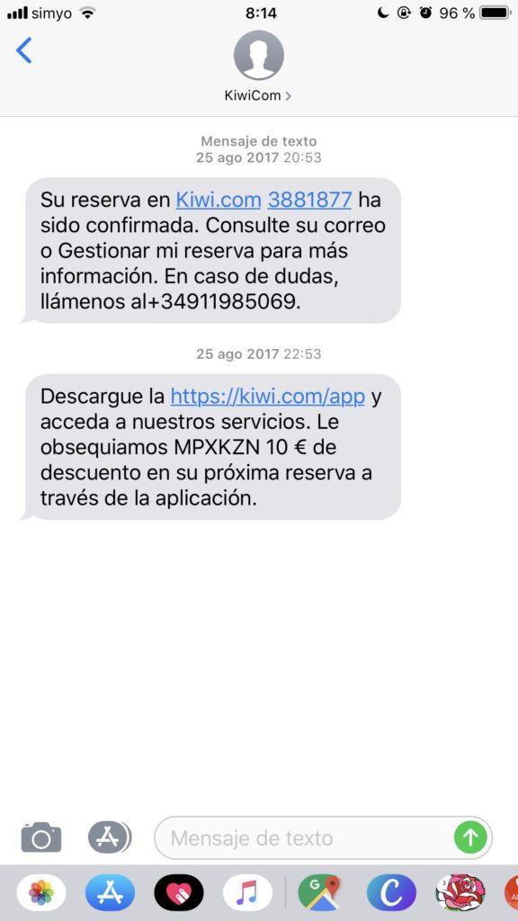 SMS marketing para el sector viajes reserva