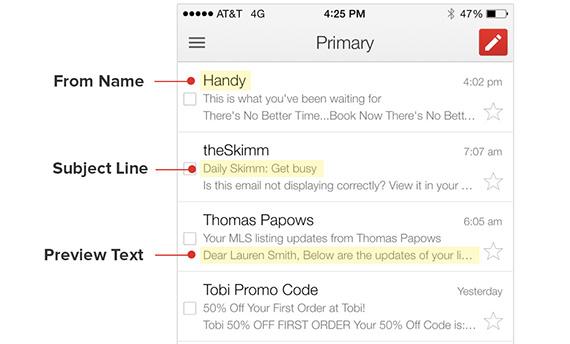 aumentar tu tasa de clics en los emails vista previa