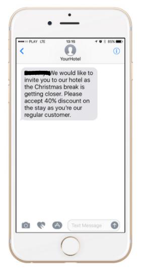 sms de promociones exclusivas