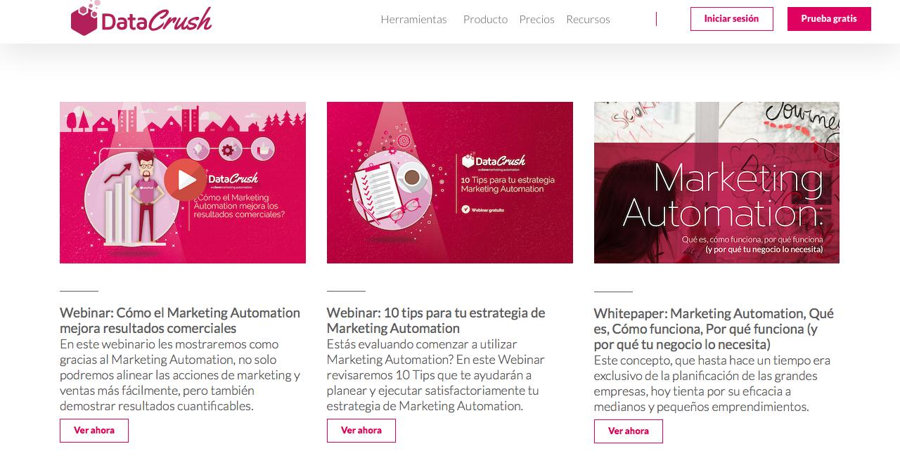 blogs de Marketing Automation en Argentina data crush