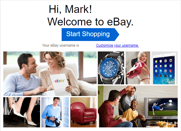 ebay welcome email