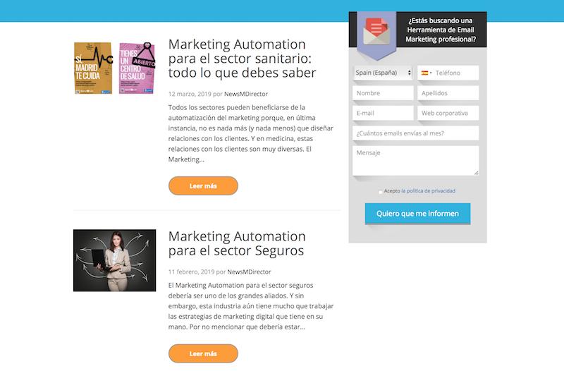 blogs de marketing automation en Colombia: MDirector