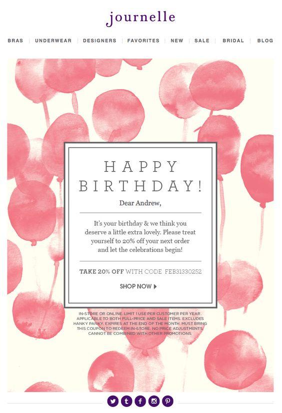emails para felicitar cumpleaños: mensaje emocional con descuentos