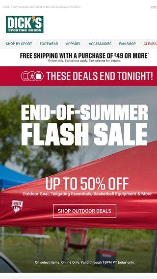 summer flash sale